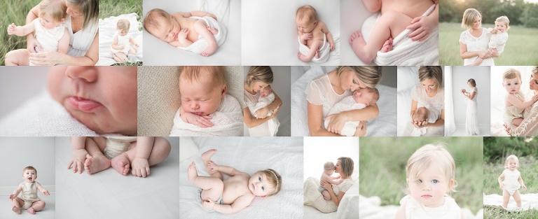 houston baby photographer milestone collection