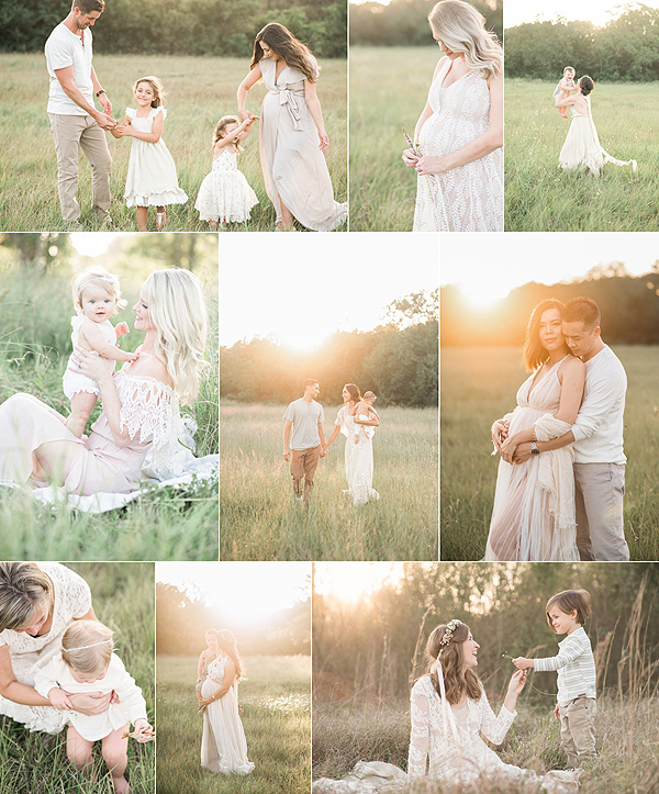 houston newborn baby family photographer field session location
